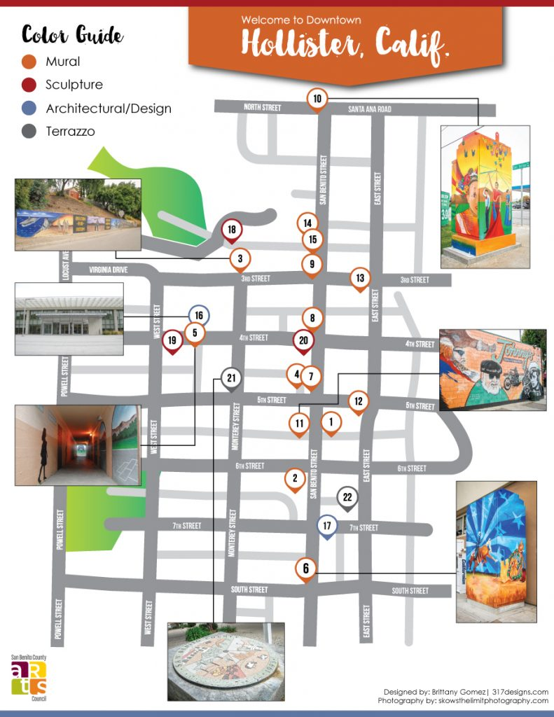 San Benito County Public Art Walking Tour Map